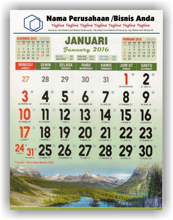 Kalender Cetak bagi Perusahaan dan Contoh Desain Kalender Kerja - Kalender Kerja Lux Executive Full Color