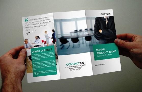 Membuat Desain Brosur untuk Usaha - Business Corporate Trifold Brochure Template