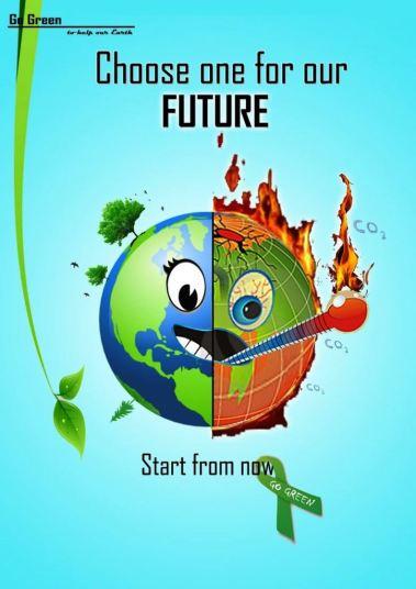 33 Contoh Poster Adiwiyata Go Green Lingkungan Hidup Hijau - Choose One for Our Future