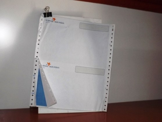 Continuous Form Surat Jalan Invoice dan Slip Gaji - Continuous Form Paper Percetakan Ayu DSCF2359
