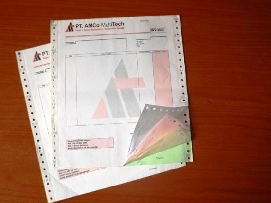 Continuous Form Surat Jalan Invoice dan Slip Gaji - Continuous Form Paper Percetakan Ayu DSCF2369