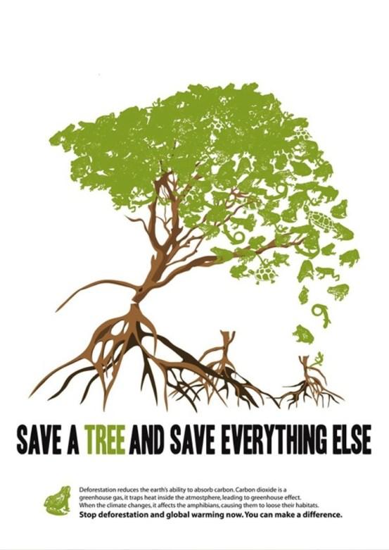 33 Contoh Poster Adiwiyata Go Green Lingkungan Hidup Hijau - Global-Warming-Posters