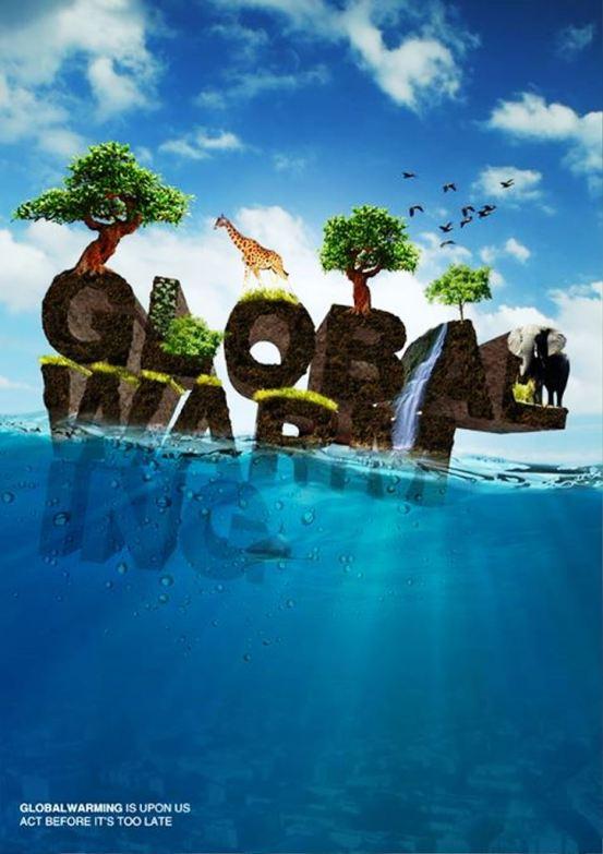 33 Contoh Poster Adiwiyata Go Green Lingkungan Hidup Hijau - Global-Warming