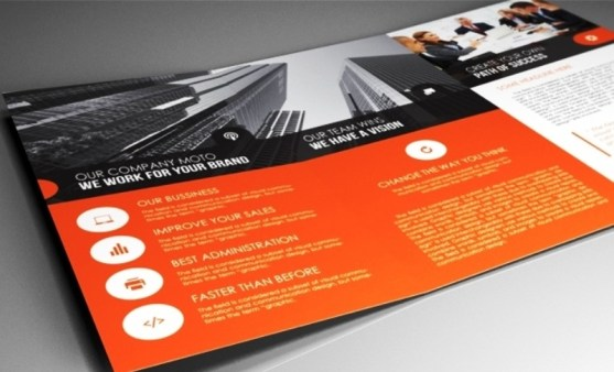 Membuat Desain Brosur untuk Usaha - Indesign-Template-A4-trifold-brochure-rounded