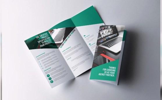 Membuat Desain Brosur untuk Usaha - Kelancer-Corporate-Trifold-Brochure