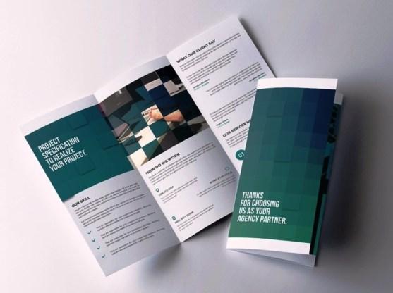 Membuat Desain Brosur untuk Usaha - Luxirbi-Corporate-Tri-fold-Brochure
