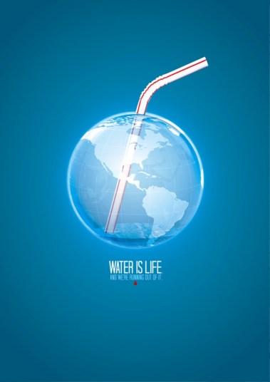 33 Contoh Poster Adiwiyata Go Green Lingkungan Hidup Hijau - Water-is-Life-Posters