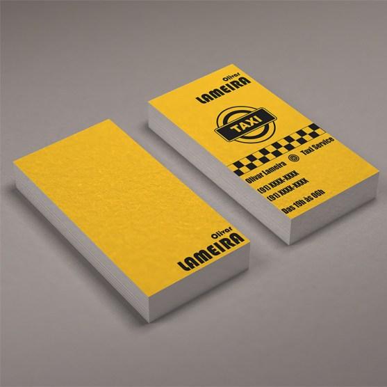 Desain Kartu Nama Bisnis Taksi - Kartu Nama Taxi - Cartao de Visita Taxi Service