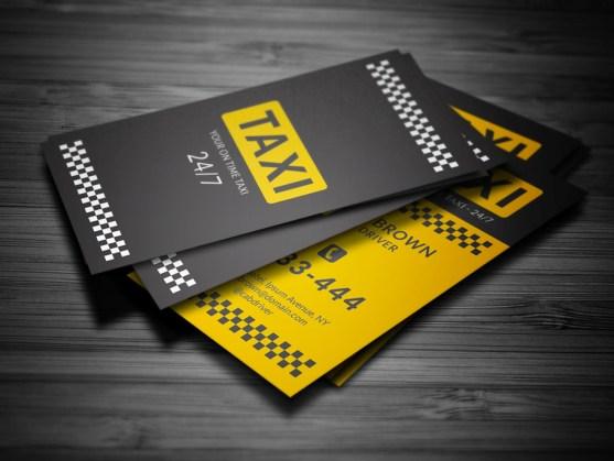 Desain Kartu Nama Bisnis Taksi - Kartu Nama Taxi - Taxi Business Card 3