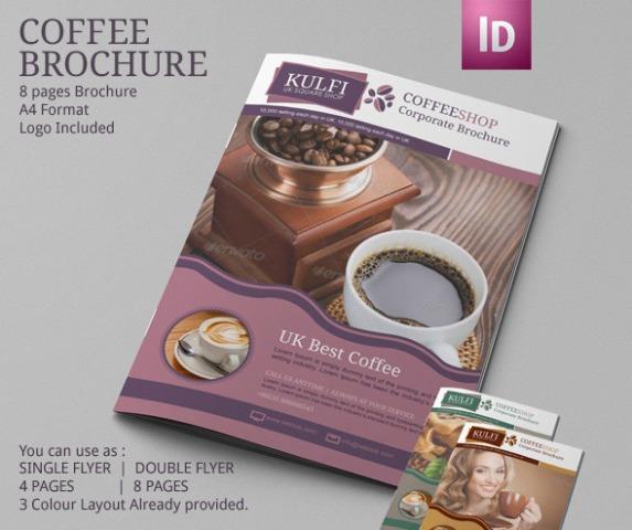 Brosur Kafe Kopi Pilihan Desain Bagus