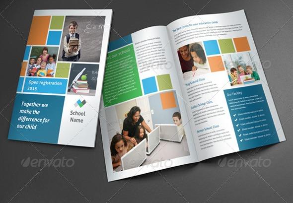 17 Brosur Sekolah Contoh Desain Template Download