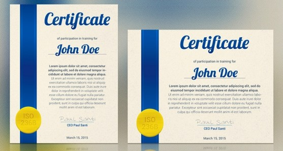 Contoh Desain Sertifikat Ijazah Penghargaan