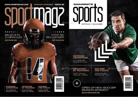 Desain Majalah Olahraga Extreme