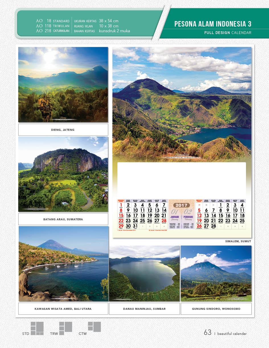 Kalender Full Desain Standard Blanko AO