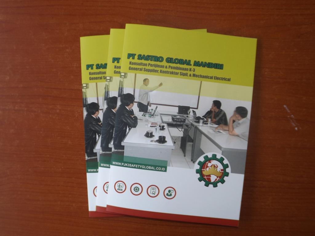 Contoh Desain Company Profile Perusahaan PJK3 Riksa Uji dan Pelatihan Safety