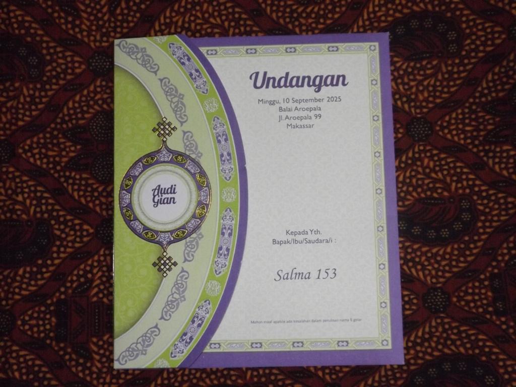 Kartu Undangan Pernikahan Islami Salma Blangko