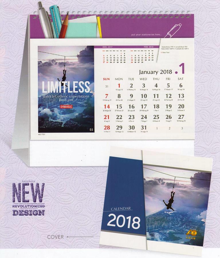 Kalender Meja 2018 Spirit of Success AO 7701