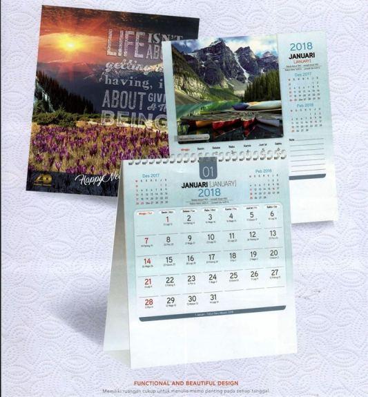 Kalender Meja 2018 Pemandangan Alam Dunia AO 8801