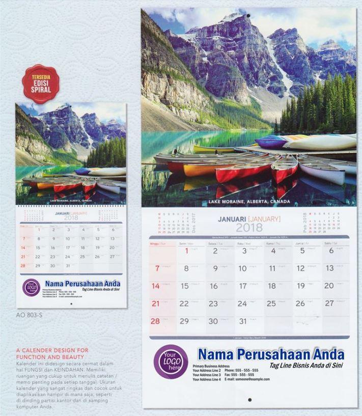 Kalender Dinding Executive 2018 Gambar Pesona Alam Dunia AO 803