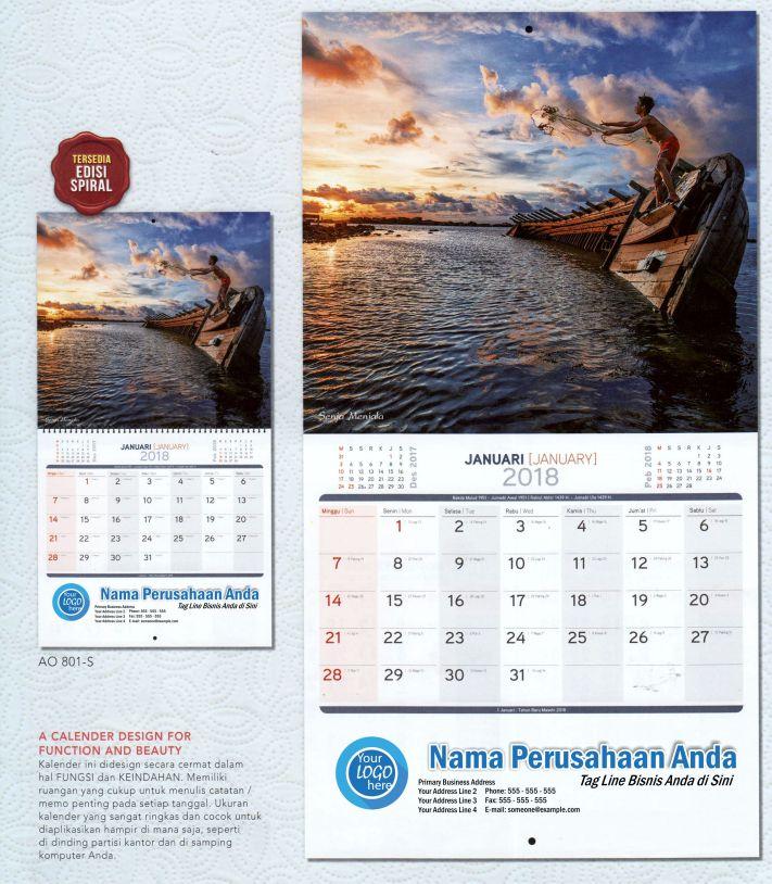 Kalender Executive 2018 Ekonomi Rakyat AO 801 / AO 801S