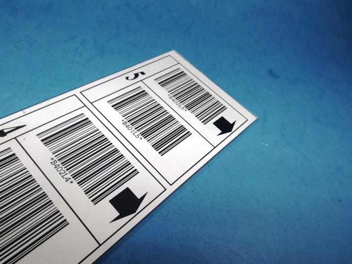 Sticker Bar Code Acrylic Printing