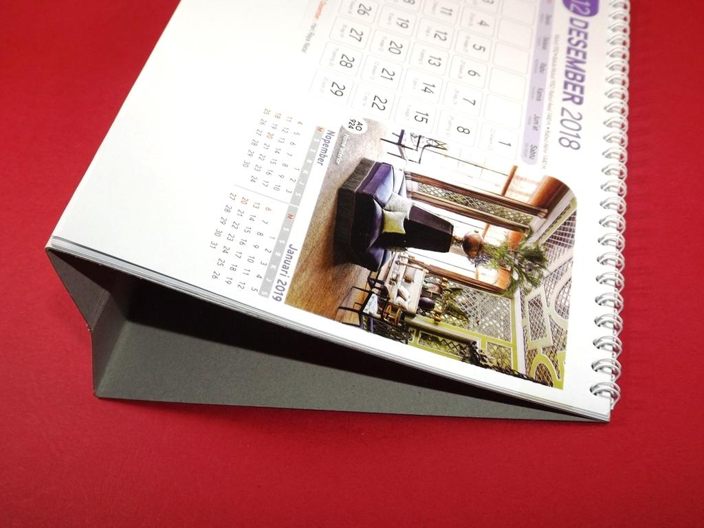 Kalender Meja 2018 Home Interior AO 924