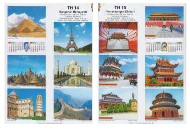 Kalender Dinding 2018 Dua Bulanan Cahaya Harapan Satya 38×53 cm