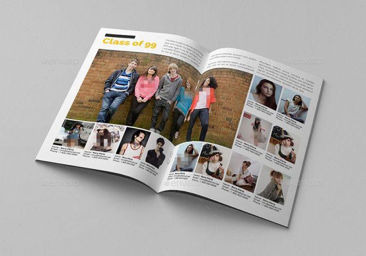 Album kenangan school yearbook templates