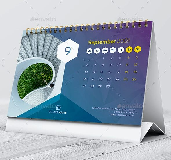 2021 Template Desain Kalender Meja Premium Envato ...