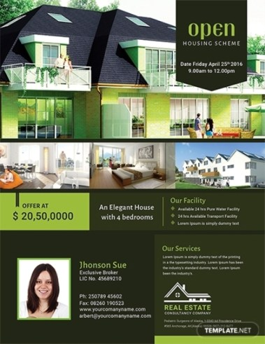 Template Flyer Office Word
