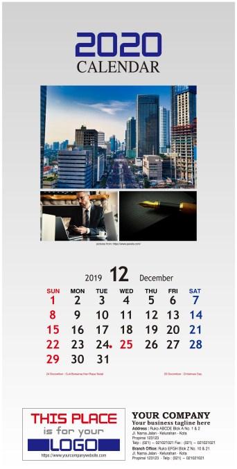 Kalender Dinding 2020 Tema Bisnis Perusahaan Free Download Vector PDF