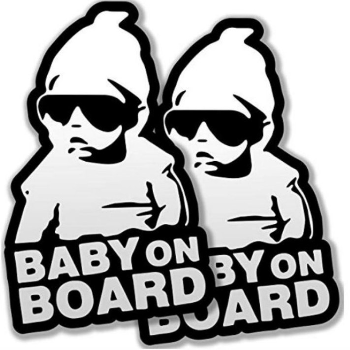 "Sticker Mobil ""baby on board"""
