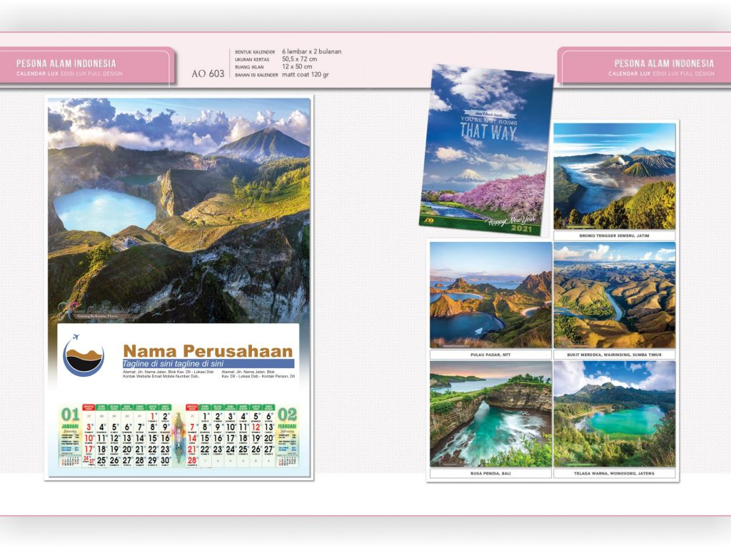 Kalender Dinding Dua Bulanan Edisi Lux Blangko AO