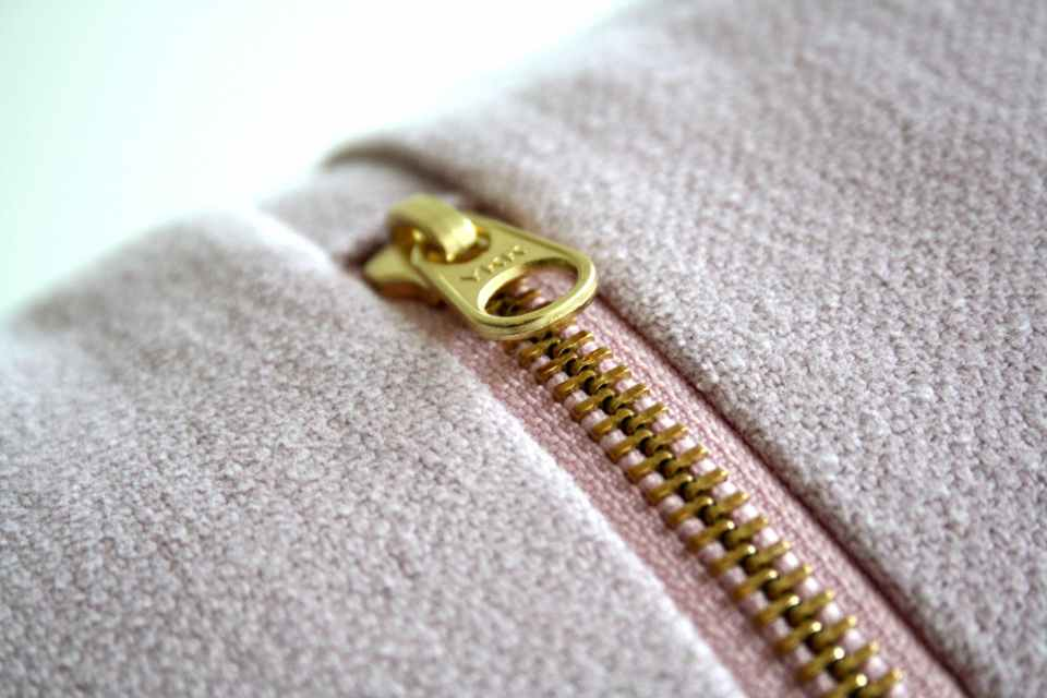 gold colored zipper