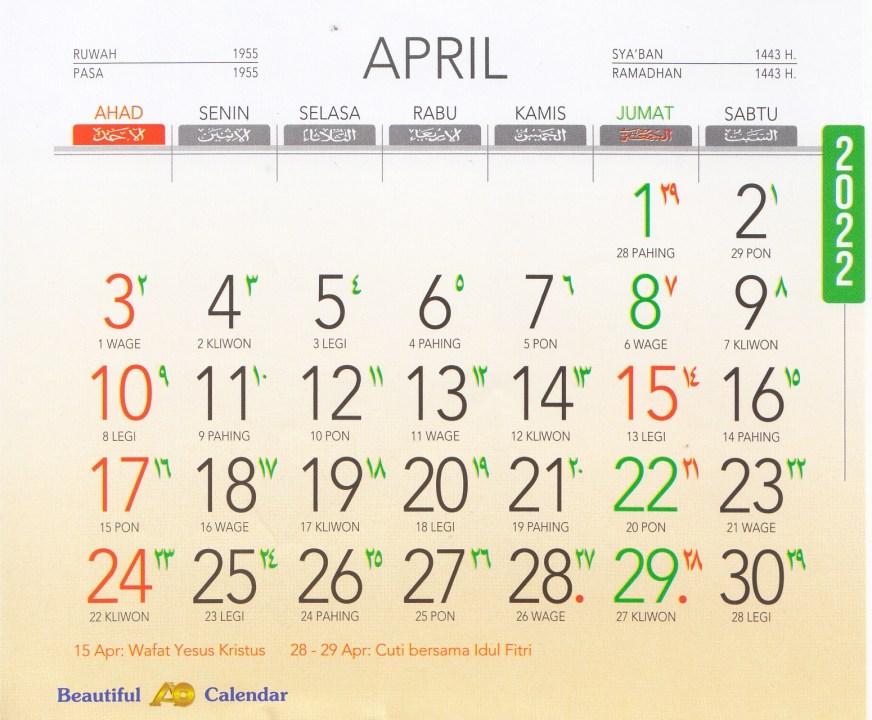 Kalender 2022 AO