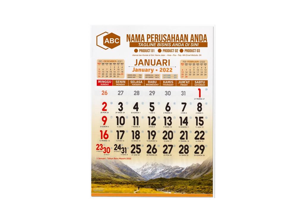 Kalender Lux 2022 AO Semi Lux