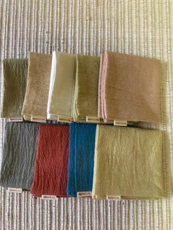 手織り生地ハンカチ