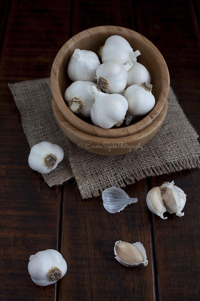 Garlic and Garlic Cloves Image source -- https://www.flickr.com/photos/szaboemoke/10778992323/sizes/l