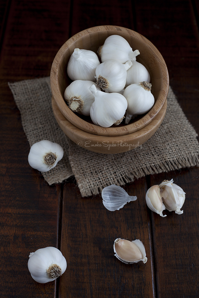 Garlic and Garlic Cloves Image source -- https://www.flickr.com/photos/szaboemoke/10778992323/sizes/l