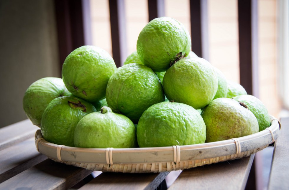 Guavas Image source -- https://www.flickr.com/photos/banduki/16249769712/sizes/l