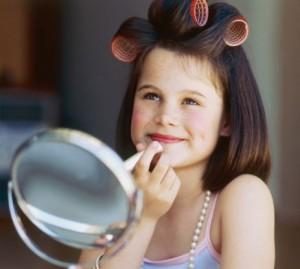 Beauty care school girl