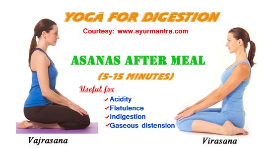 Yoga after food for better digestion | Ayurveda Blog