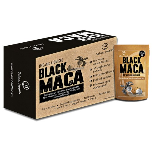 Atomised black Maca by Seleno Health