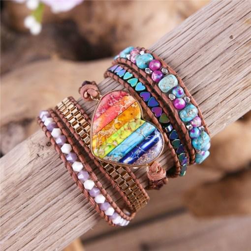 Bracelet Amour Arc en Ciel Bohème Chic