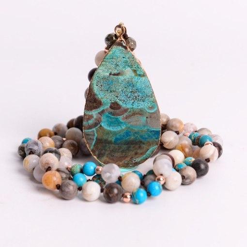 Collier Bohème Chic en pierres naturelles