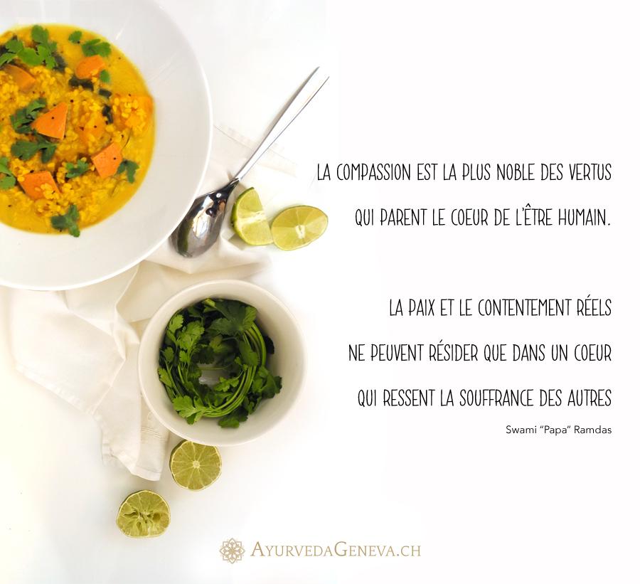 Ayurveda soupe potimarron