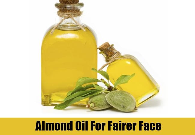 Almond Oil For Fairer Face