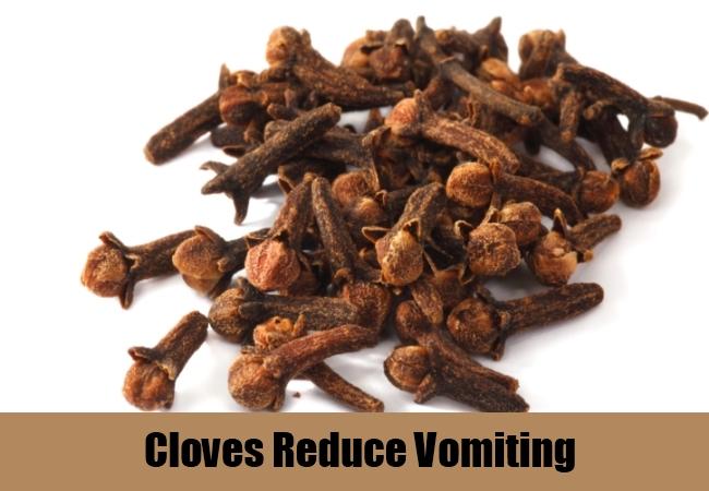 Cloves Reduce Vomiting