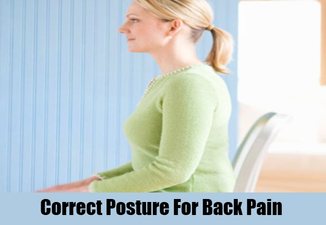 Correct Posture For Back Pain