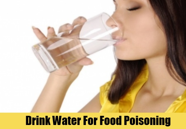 Drink Water For Food Poisoning